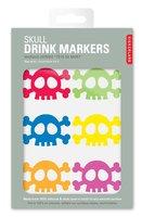 Kikkerland Skull Silicone Drink Markers