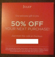 Julep 50% off your next purchase unique code