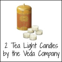 Tea light candles by the Veda Company