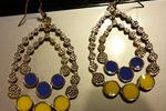 Chandelier Earrings Purple & Gold