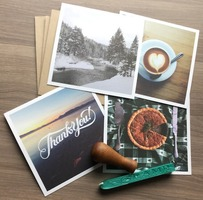 Gramr Gratitude Thank You Card Set, Sealing Wax and Wax Press