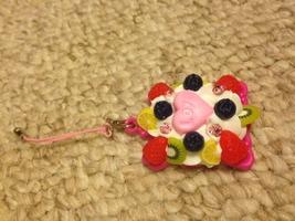 Pink Love Mirror Phone Charm