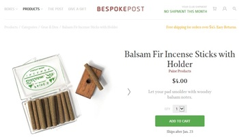Balsam Fir Incense Sticks with Holder, Paine Products