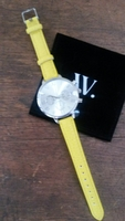 Hayden Watch Silver with yellow band