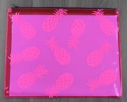 Samudra pink piña zip pouch