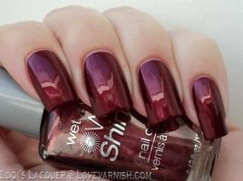 "WetNWild Wild Shine Polish in ""Burgundy Frost"""