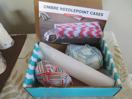 DIY Ombre Needlepoint Cases