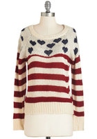 hearts and stripes sweater