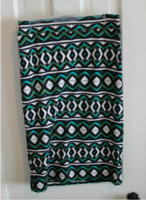 Renee C Melisa Geo Print Pencil Skirt Medium