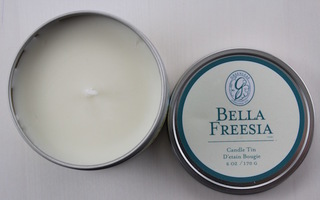 Greenleaf Bella Freesia Candle Tin