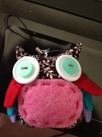 Handcrafted Owl phone strap