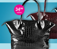 Large Crocodile Style Tote Bag