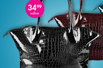 Large Crocodile Style Tote Bag