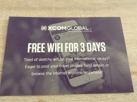 Xcomglobal 3 days free wifi