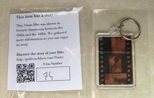 FrenchBox French Film Strip Keychain