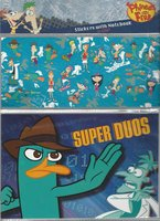 Phineas and Ferb 20 stickers and Notebook set