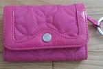 vera bradley pink wallet key chain
