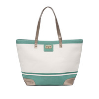 Thursday Friday Gold Toe Tote - Creme de Menthe