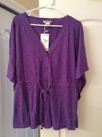 Purple shirt/cardi with tie