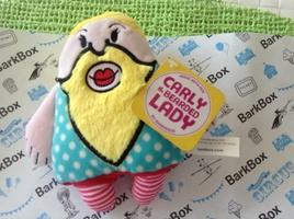 Bearded Lady dog toy