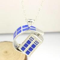 Doctor Who Spinning Tardis Pendant