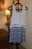 Sugar Lips Striped Dress with Crochet Overlay