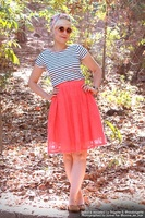 Fleet Collection Heirloom Skirt in Coral
