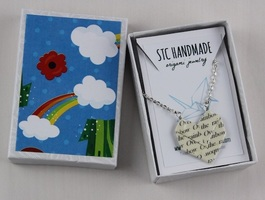 STC Handmade Origami Jewelry Necklace