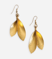 Noonday Collection Leather Leaf Earrings