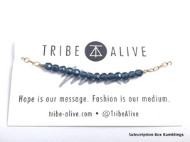 Tribe Alive Glass Bead Bracelet in Mexican Blue