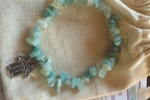 Amazonite Stone Hamsa Hand Bracelet