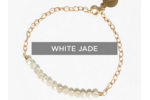 Tribe Alive Glass Bead Bracelet in White Jade