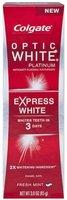 Colgate Optic White Platinum Toothpaste, Express White, travel size 0.75 oz