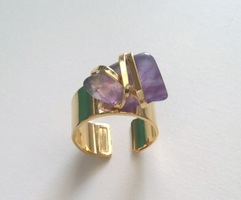 Wrapped Amethyst Coctail Ring