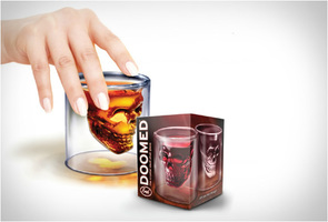Doomed Crystal Skull Shot Glass