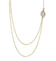 "Ashlyn ""Nature"" Double Strand Leaf Necklace"