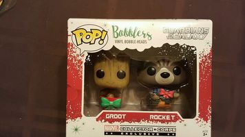 GOTG Groot and Rocket Bobblers