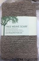 Marquet Fair Trade Free Weave Scarf- Natural