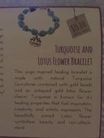 Turquoise and Lotus Flower bracelet