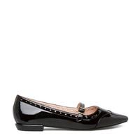 Carley Black Flats Size 7