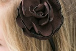 Soft Chocolate Brown Rosette Headband