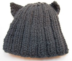 Chunky Knit Cat Hat