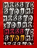 Miss You graphic card or frameable print