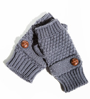 Whitney Eve Fingerless Gloves -CHARCOAL