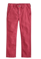 FabKids Skinny  Chino Pants, Red, size 5