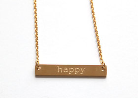 "Jook & Nona ""Happy"" Necklace - Gold Plated"