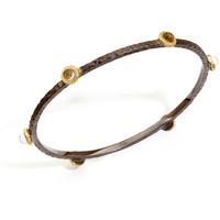 Rivka  Friedman stone bangle bracelet 18k gold clad
