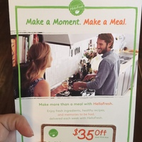 $35 off first box from Hello Fresh.