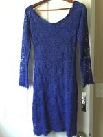 Blue Lace Dress - Jump Apparel