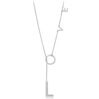 Love Lariat Necklace - Sterling Silver